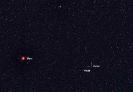 Vesta und Ceres neben Mars